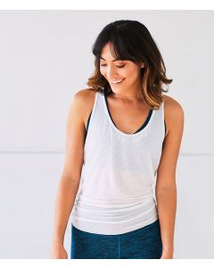 Manduka Breeze Open Back Tank White