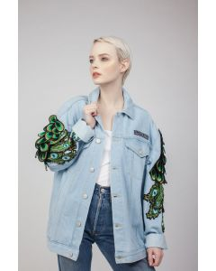 Ragyard Peacock Sleeve Denim Jacket