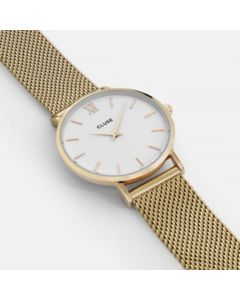 Cluse Minuit Watch Gold Mesh Gold