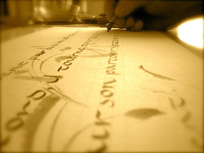 © Eric Montigny Calligraphe  - Atelier de calligraphie