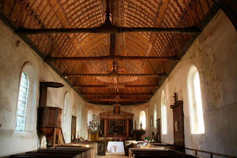 ADRT28 - Voute de l'église Saint Martin Martin de la Croix-du-Perche