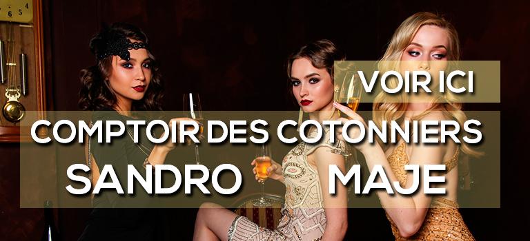 Comptoir des Cotonniers, Sandro et Maje sur ligne