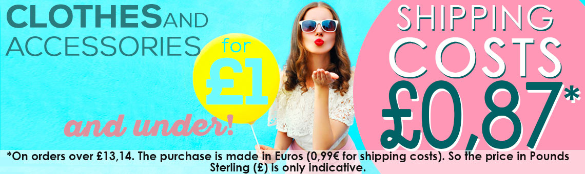 Clothes for £1 and under! + Shipping costs £0,87*