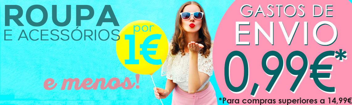 Roupa por 1€ e menos + GAstos de envio 0,99€
