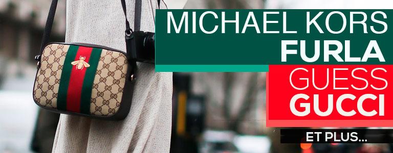 sacs Michael Kors, Gucci, Guess
