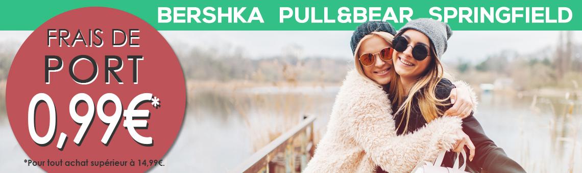 Bershka, Pull&Bear et Springfield ¡Frais de port 0,99€*!