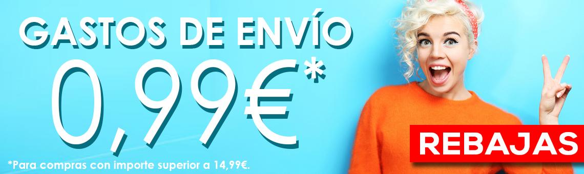REBAJAS: Envíos a 0,99€