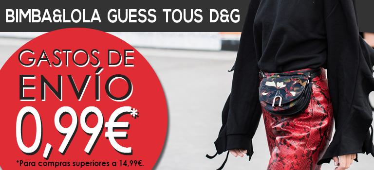 Bolsos Bimba y Lola, Tous, Guess, D&G... ¡Envíos a 0,99€!