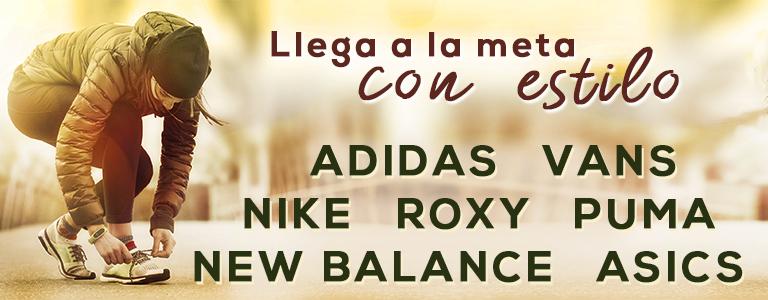 Especial deporte: New Balance, Adidas, Nike, Roxy y muchas más