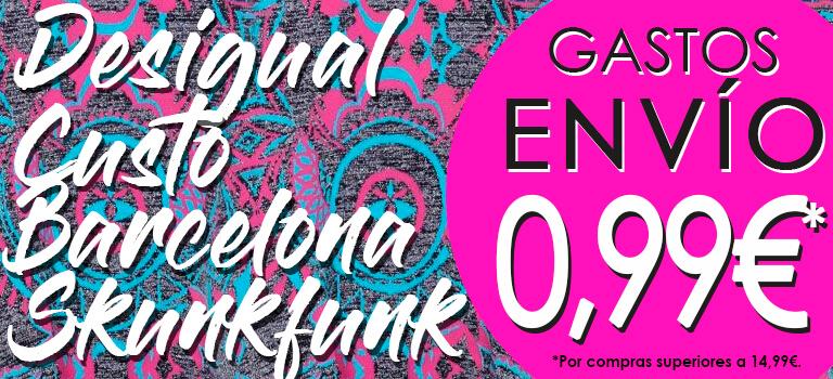 Desigual, Custo Barcelona y Skunkfunk barato online