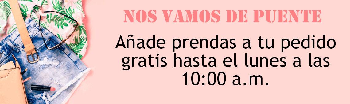 Añade prendas gratis hasta el lunes a las 10:00 a.m.
