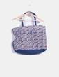 Bolso shopper azul floreado Pull&Bear