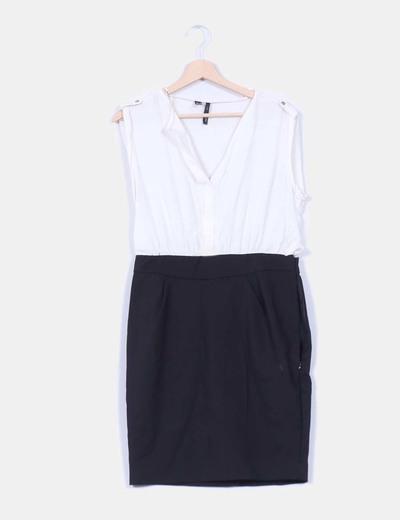 mejor selección de 2019 comprar el más nuevo diseño encantador Vestido blanco y negro mango – Vestidos baratos