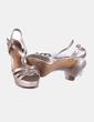 Sandalias de tacón dorado Marypaz