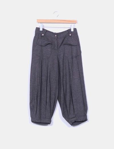 Pantalón baggy gris jaspeado Mabeve