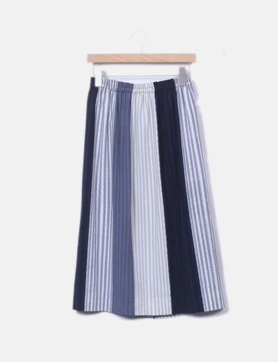 Falda de rayas combinada
