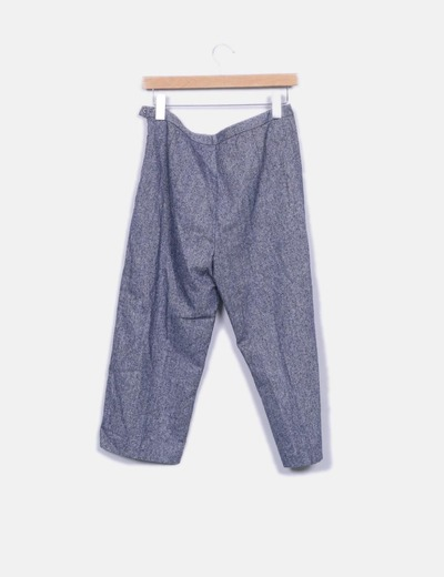 Pantalon pirata azul jaspeado