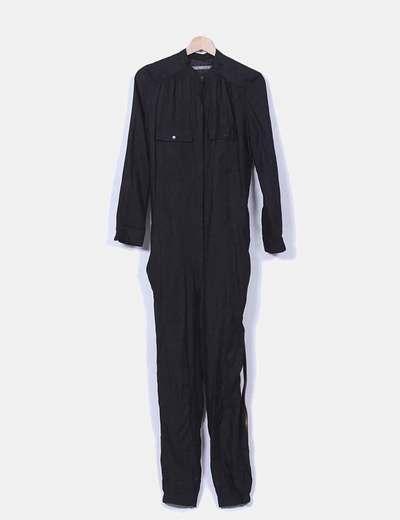 Mono negro manga larga Zara