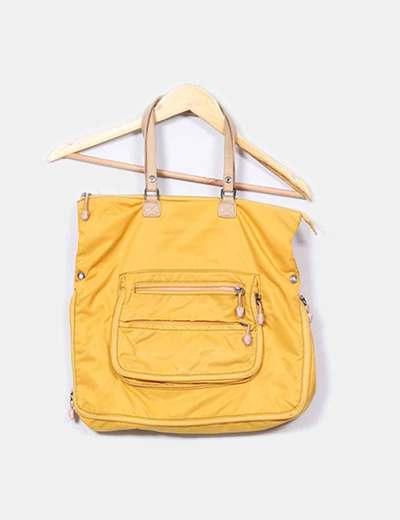 Bolso amarillo asas beige Salvador Bachiller