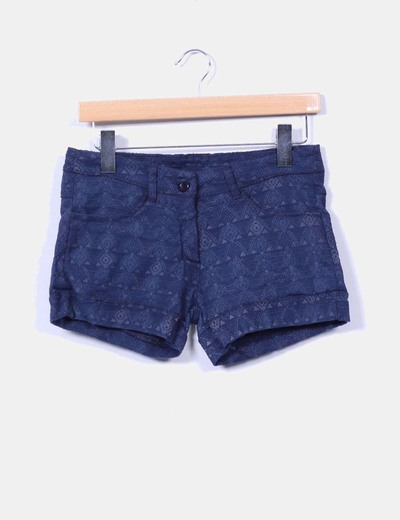 Short azul texturizado NoName