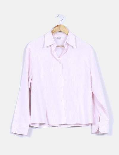 Camisa a rayas rosa y blanca Boteli