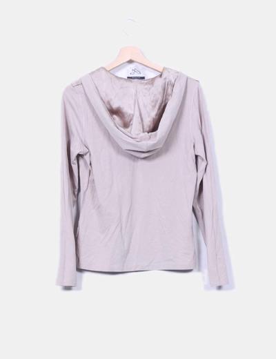 Camiseta topo estampada con capucha