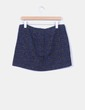 Mini falda tweed azul marino Pull&Bear