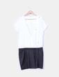 Vestido combinado blanco y negro IKKS