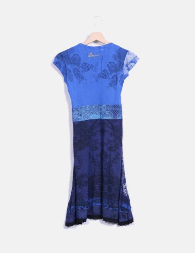 Vestido mini azul print
