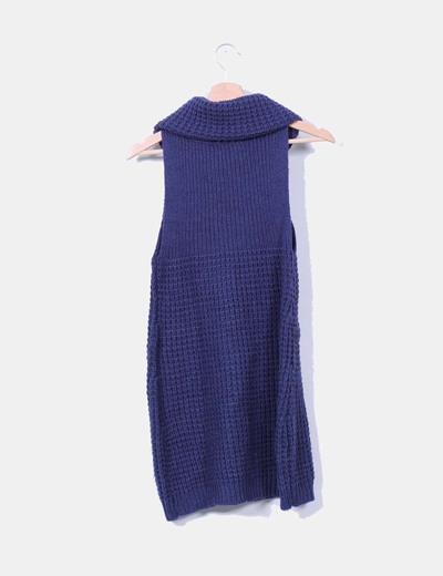 Jersey azul marino con tachas sin mangas