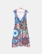 Vestido tricot multicolor manga corta Desigual