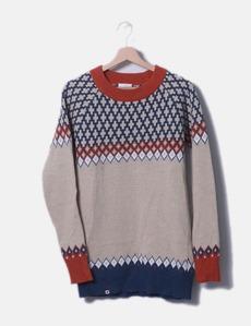 bc4ce293fd4 Jersey tricot beige combinado con azul Kling