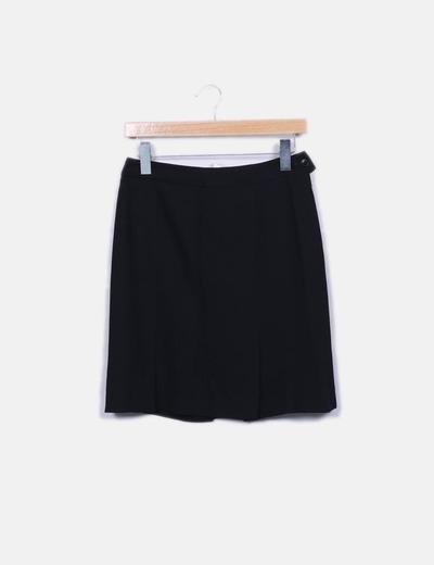 Falda recta negra Unit