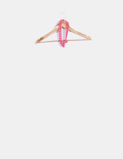 Collar cadena rosa Bershka