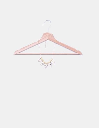 Collar dorado triángulos NoName