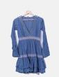 Vestido boho azul petróleo Lío de Faldas
