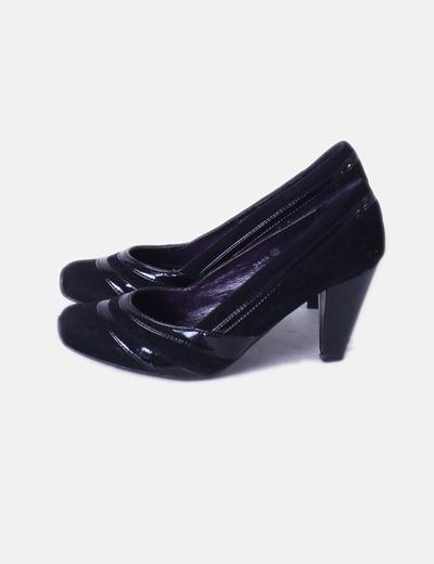 Zapato negro combinado Drastik