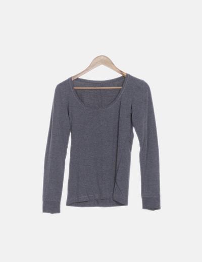 Camiseta manga larga gris