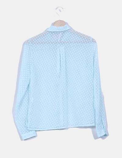 Camisa turquesa texturizada