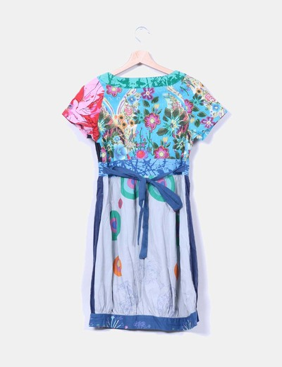 Vestido estampada multicolor