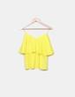 Blusa volantes amarilla Suiteblanco