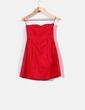 Vestido rojo palabra de honor con tachas Suiteblanco