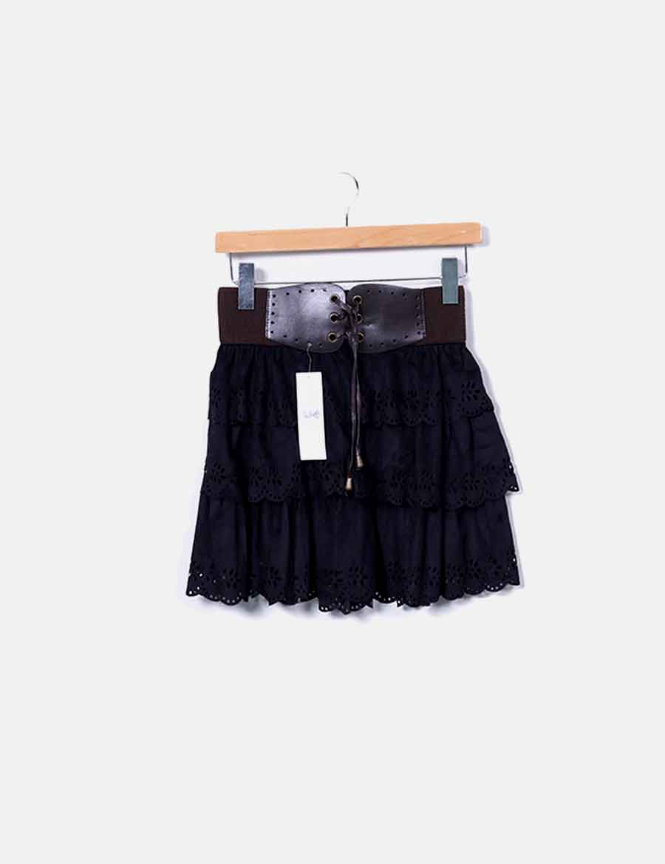 negra Sport con Mini Falda cinturón Faldas baratas de online antelina  PxwaqHESB ... 1a220a217be4