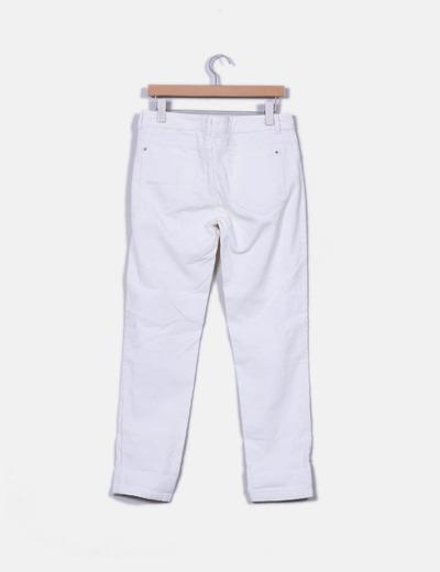 Pantalon blanco de pana