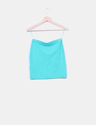 Falda mini verde