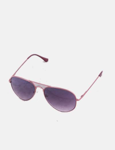 Gafas de sol aviador rosas