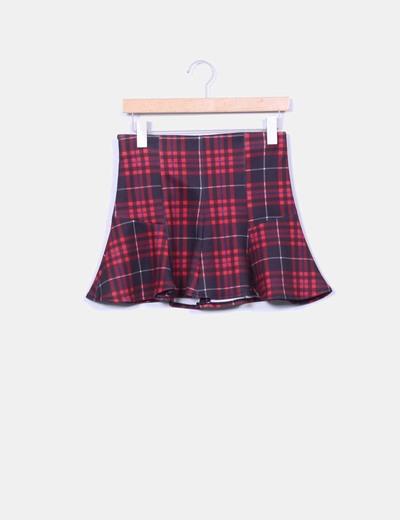 Mini falda peplum efecto neopreno Bershka