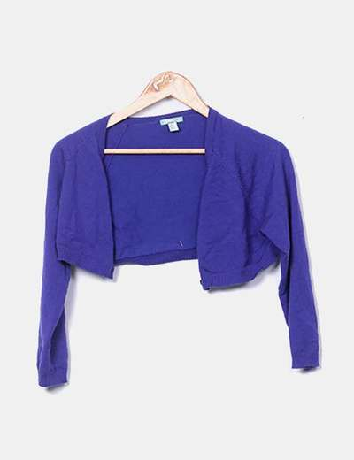 Torera tricot azul