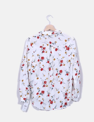 Camisa blanca estampado floral