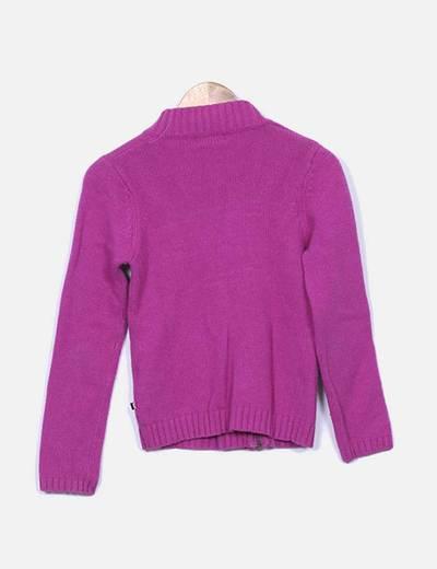 Jersey de punto rosa fucsia